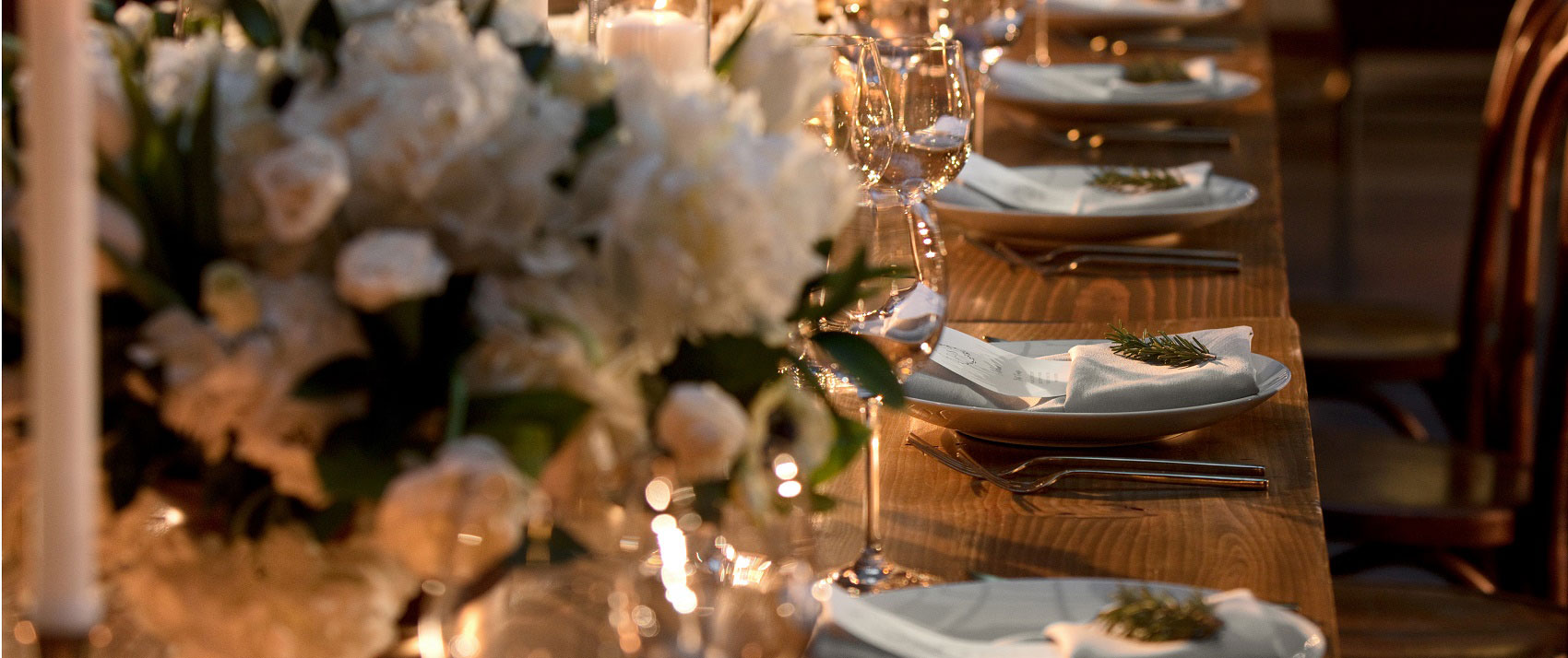 private event table setting